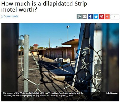 Vegas Inc – How much is a dilapidated Strip motel worth?